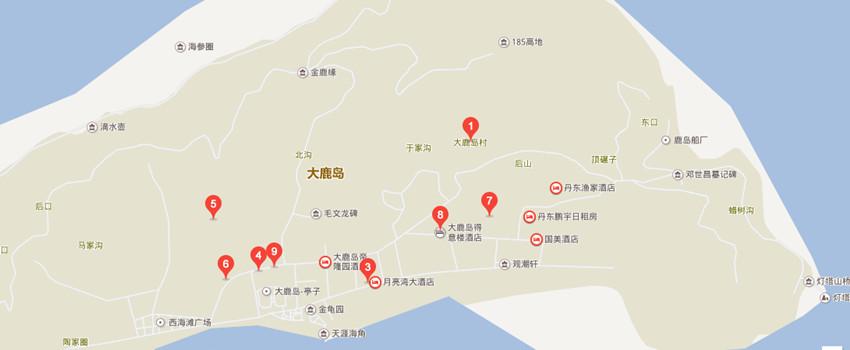 大鹿岛百度地图