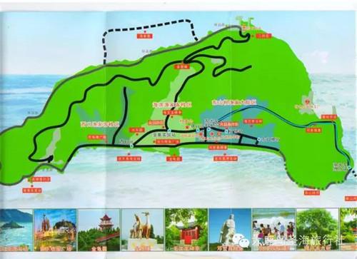 大鹿岛观光路线