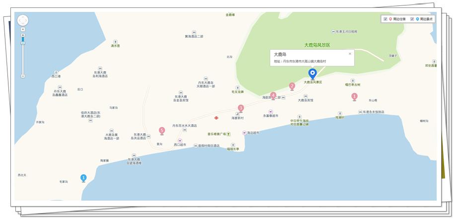 丹东大鹿岛地图